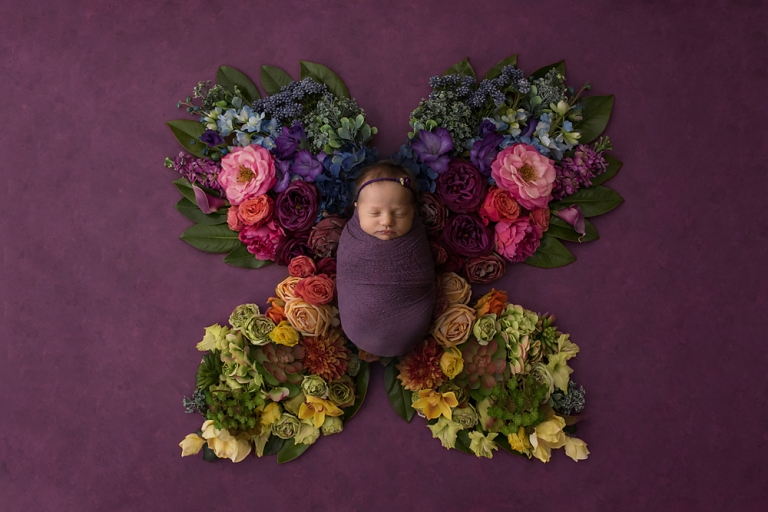 butterfly-themed-newborn-baby-girl-photo-session-in-tacoma