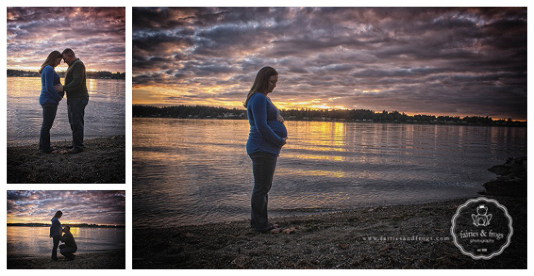 Maternity Photography Session at Sunset by Fairies & Frogs Photography