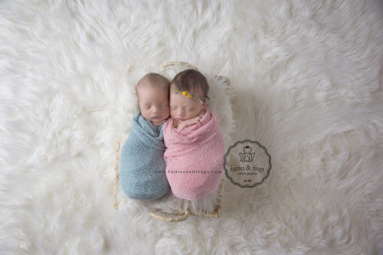 Newborn-Twins-Photography-Olympia-WA-Fairies-and-Frogs Photography