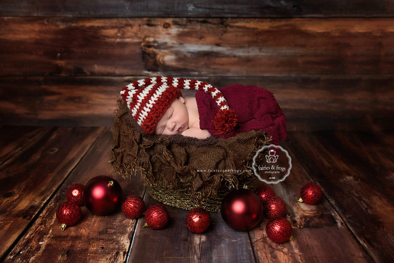 Christmas ideas for a newborn photography session fairies