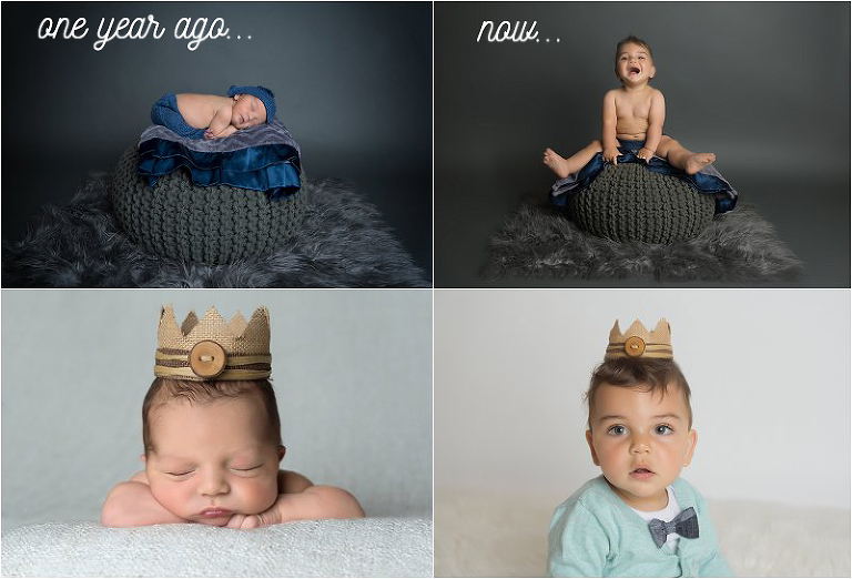 amazing-difference-from-newborn-photography-session-to-first-birthday-session