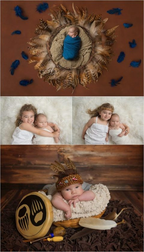 baby-boy-swaddled-in-blue-sleeping-in-feather-nest-olympia-washington