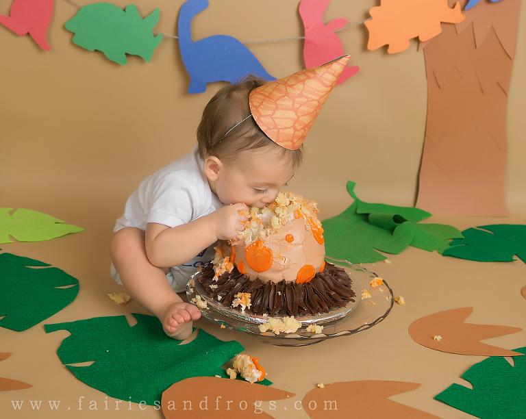 Dinosaur Themed Cake Smash