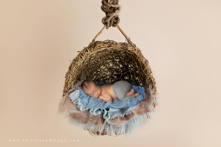 newborn-sleeping-on-blue-blankets-in-hanging-basket-in-olympia-washington-by-fairies-and-frogs-photography