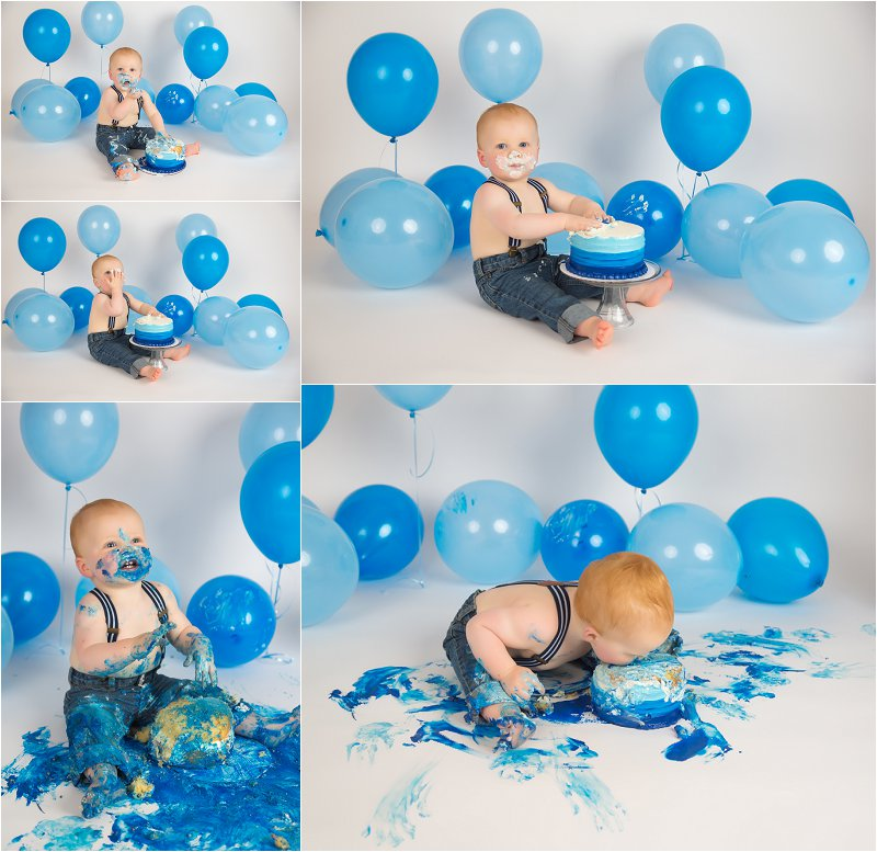Awe Inspiring Olympia Baby Photographer First Birthday Cake Smash Photography Personalised Birthday Cards Arneslily Jamesorg