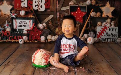 Adorable Baby Baseball Photoshoot