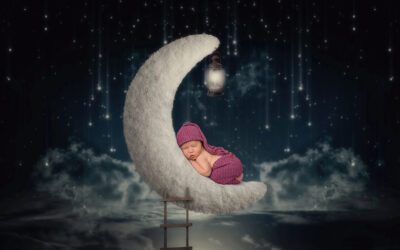 Newborn Moon Photography with the Sleepiest of Babies