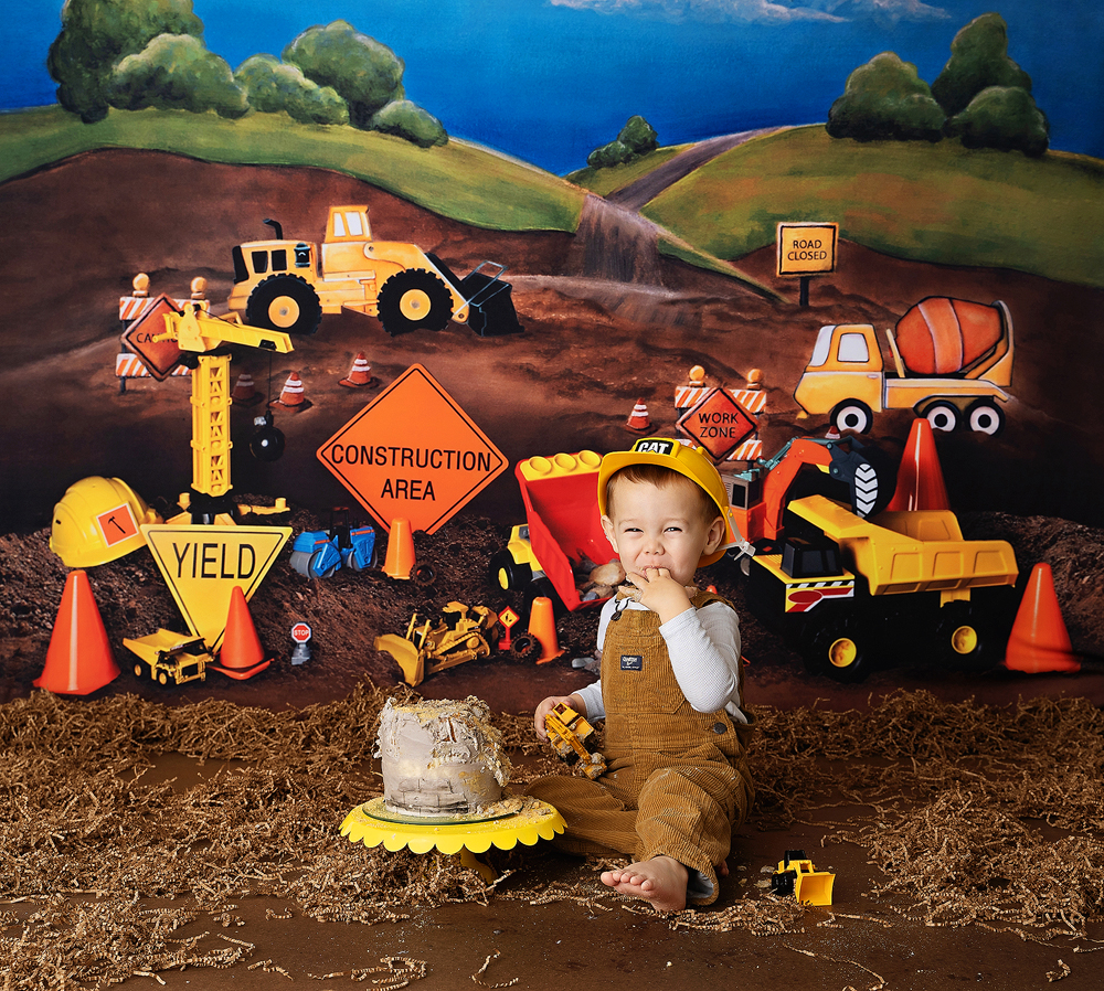 construction-truck-themed-photo session