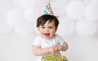 Olympia & Tacoma First Birthday Cake Smash Photoshoot