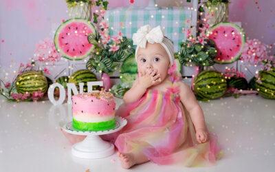 Bellevue First Birthday Cake Smash Photoshoot